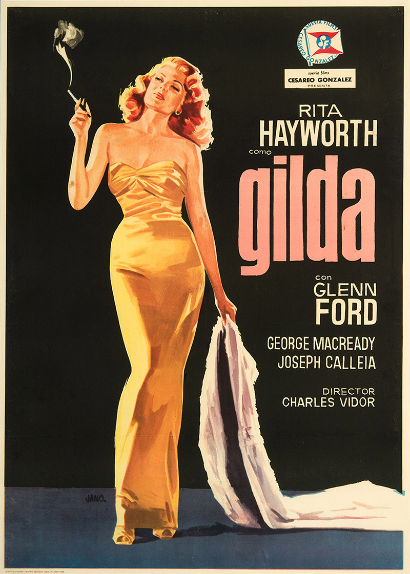 Gilda 1966 Original Movie Poster Glenn Ford Rita Hayworth ...