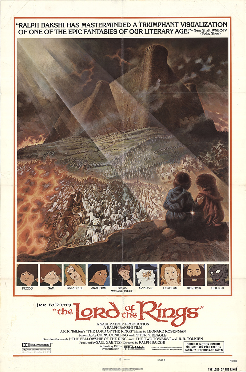 Vintage Lord Of The Rings 1978 Movie Poster 22 By | Male ...