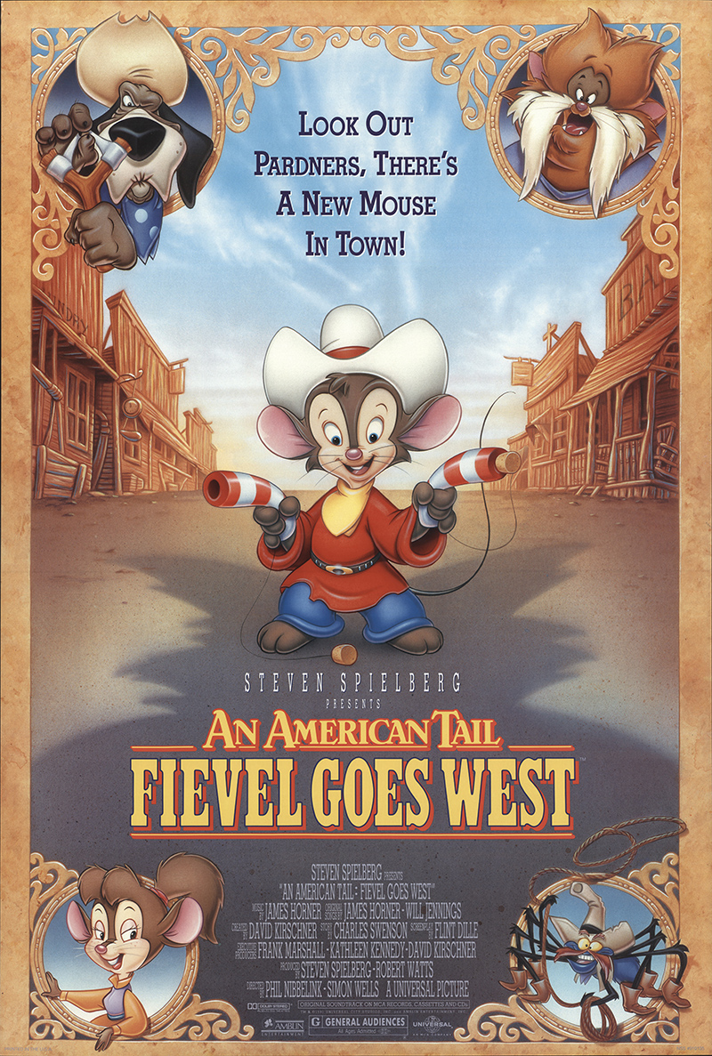 An American Tail: Fievel Goes West 1991 Original Movie ...