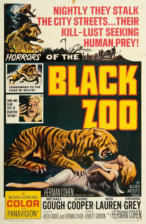 Black Zoo 1963 Original Movie Poster Horror | eBay