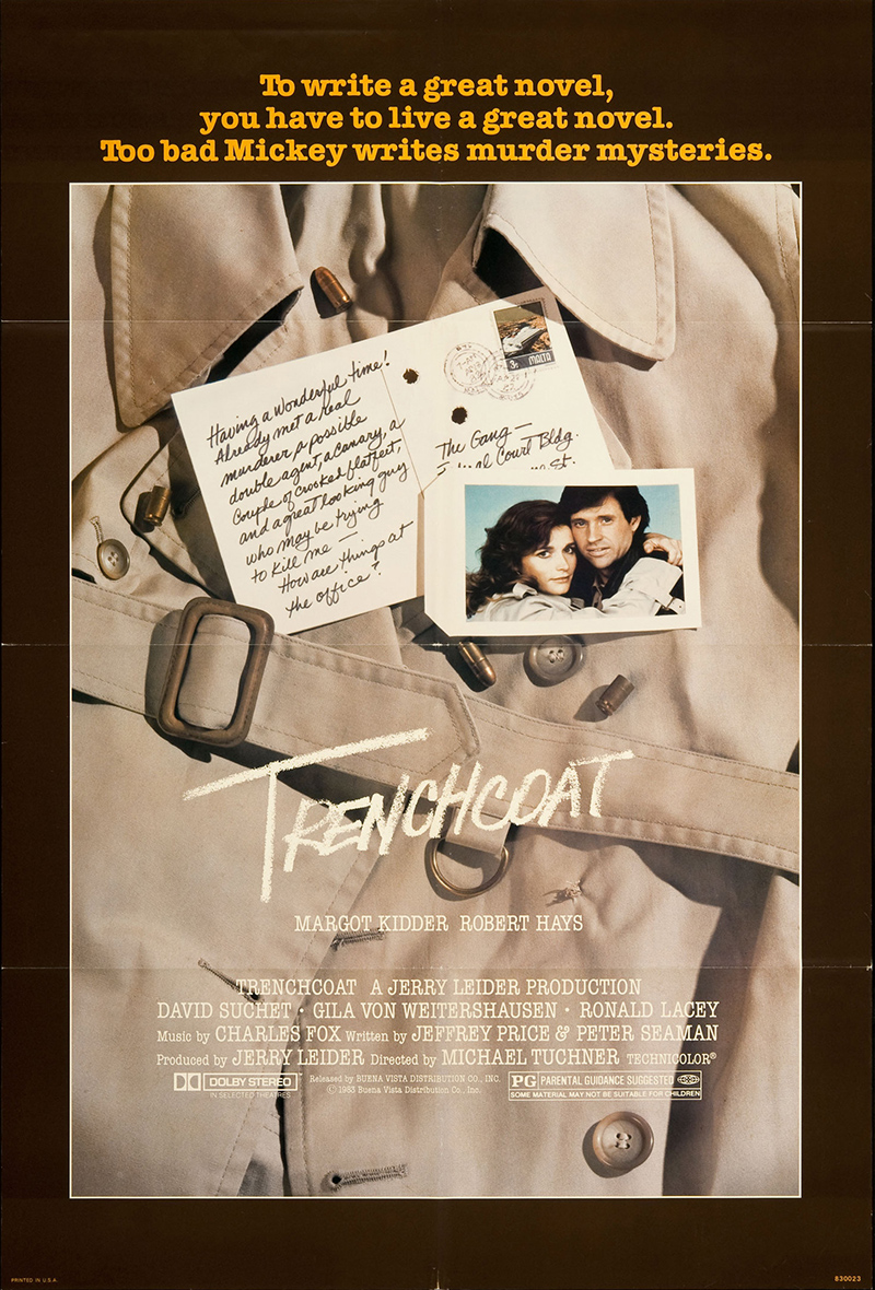 Trenchcoat 1983 Original Movie Poster Comedy Disney Family ...