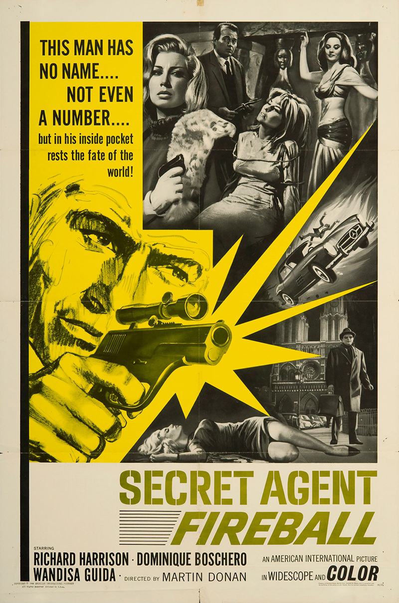 secret agent fireball 1966 original movie poster action