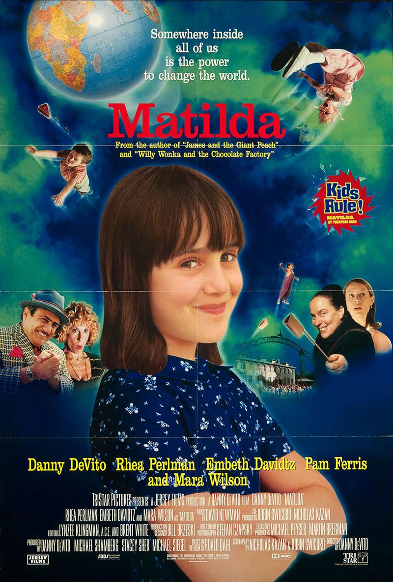 Matilda 1996 Original Movie Poster Comedy Family Fantasy ...