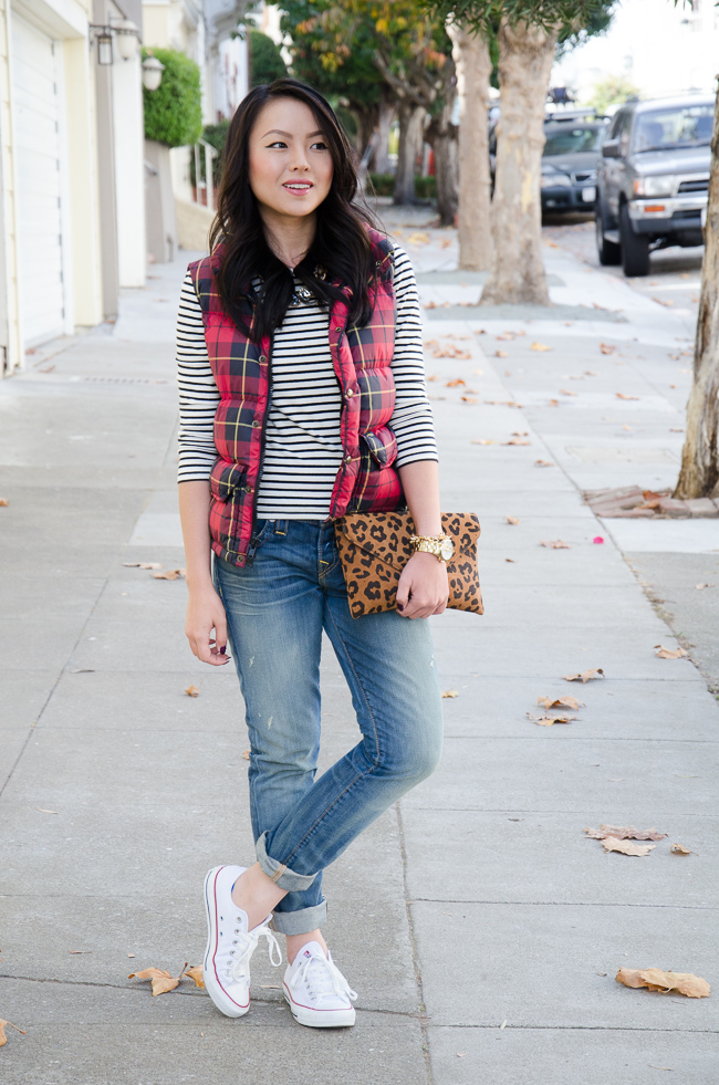 true-religion-boyfriend-jeans-plaid-puffer-vest-fall-outfit-streetstyle-san-francisco