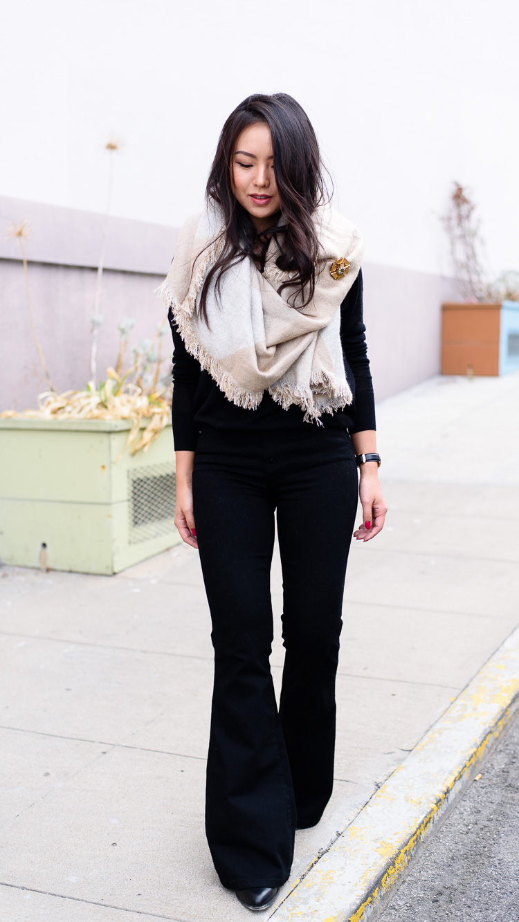 OOTD: Flares - The Fancy Pants Report | San Francisco Fashion Blog