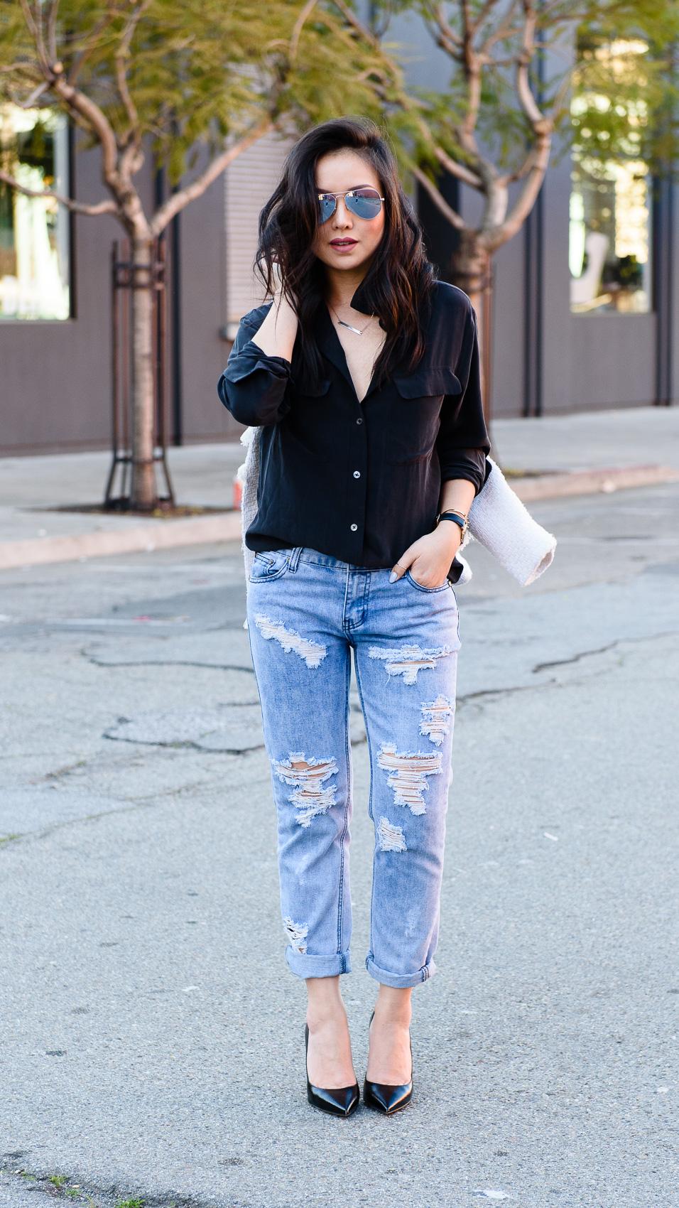 OOTD: Little Black Shirt - The Fancy Pants Report | San Francisco ...