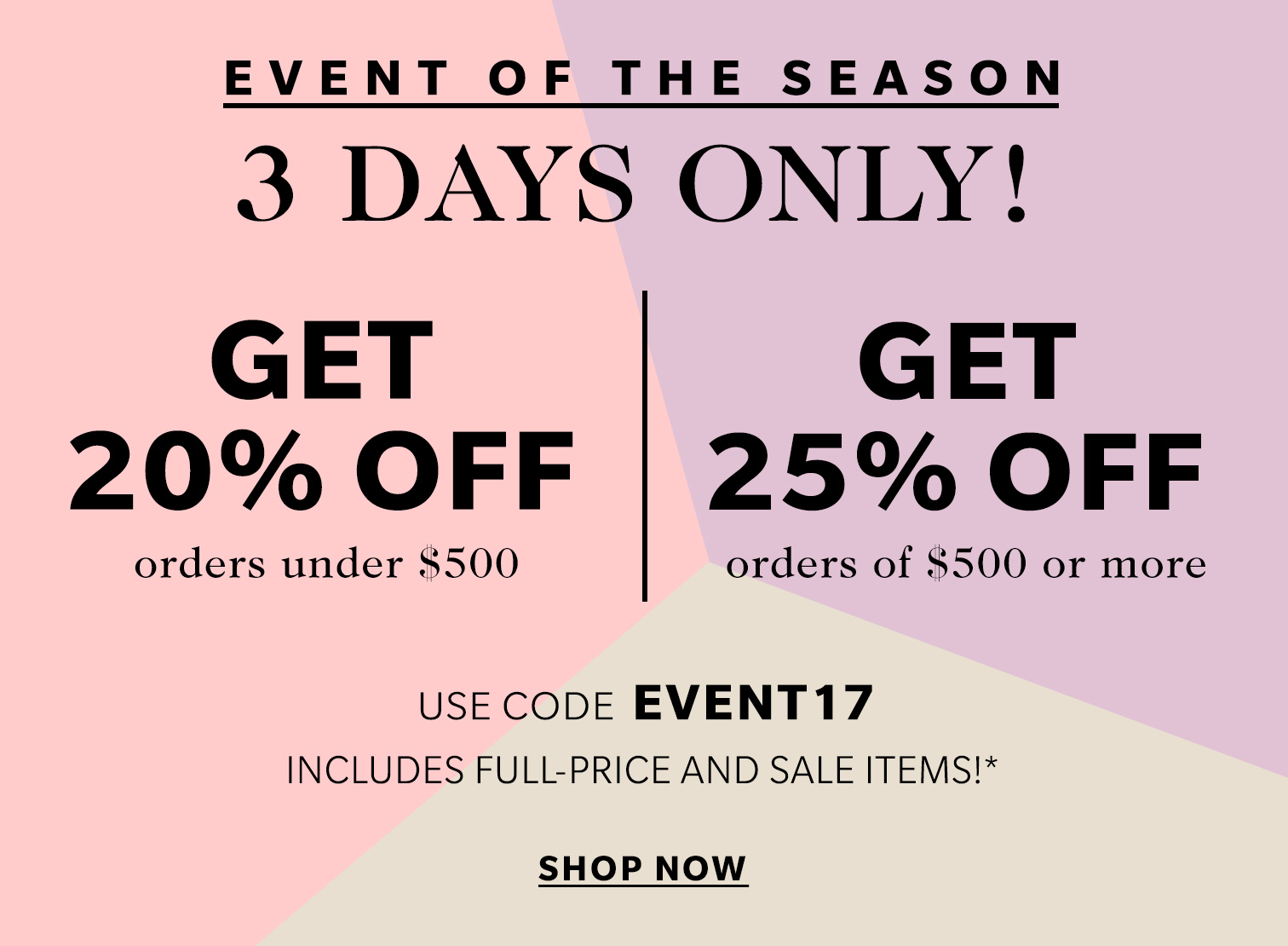 shopbop-event-of-the-year-sale-promocode