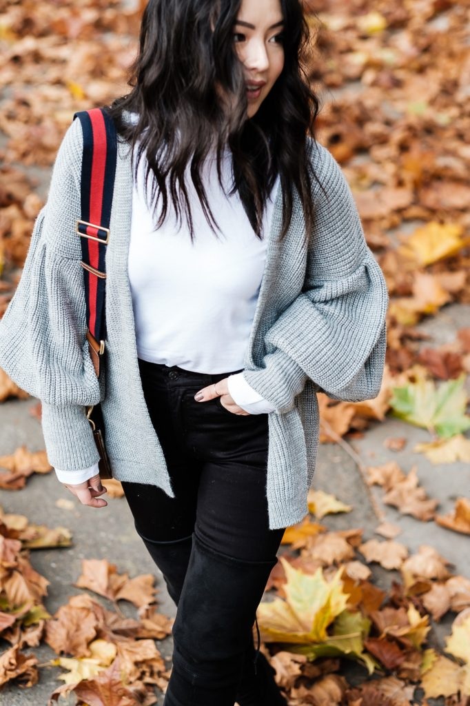 balloon-sleeve-sweater-topshop-cardigan-winter-outfit