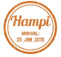 GHR Hampi Passport Stamp