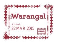 GHR Warangal Passport Stamp