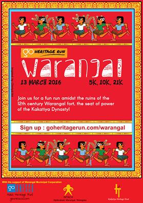 Go Heritage Run Warangal Poster