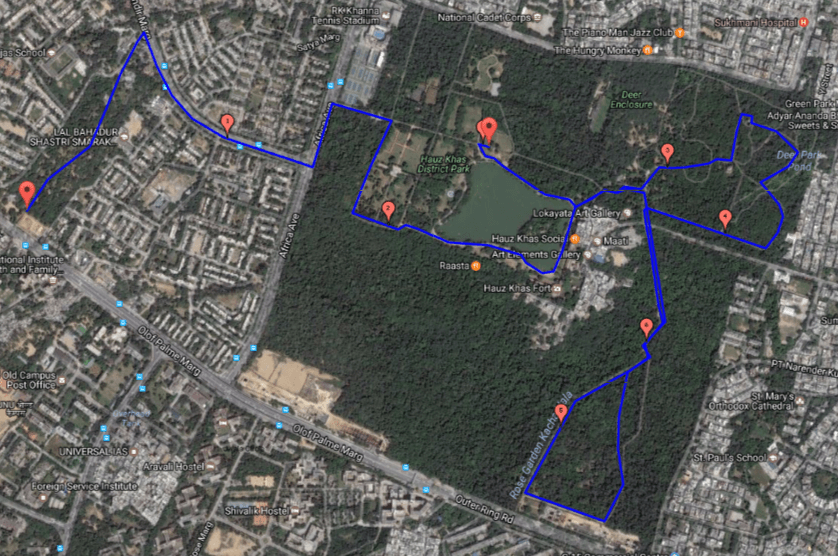 Hauz-Khas-Park-Heritage-Run-Map