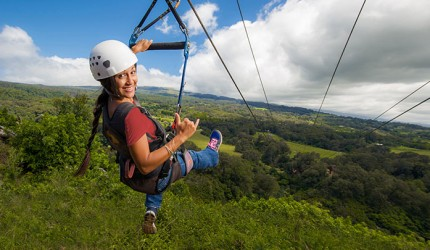 Photo courtesy of Piiholo Ranch Zipline in Makawao, Maui.