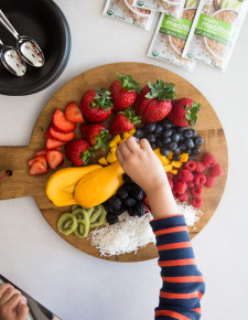 Healthy Oatmeal Bowls for Kids with Plum-Hither and Thither-3