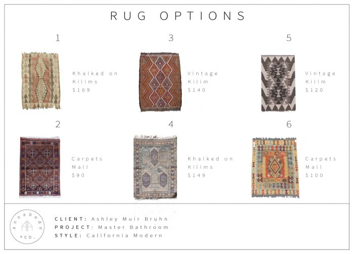 AMBCA16 - Rug Options