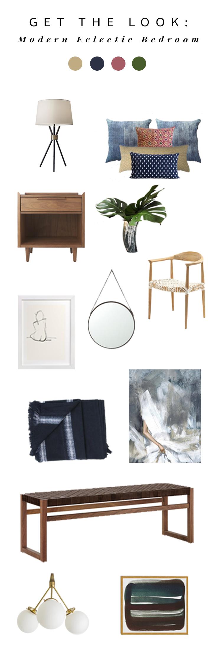 Get the Look - Modern Eclectic Bedroom