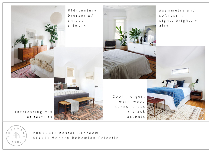 A Modern Bohemian Eclectic Bedroom