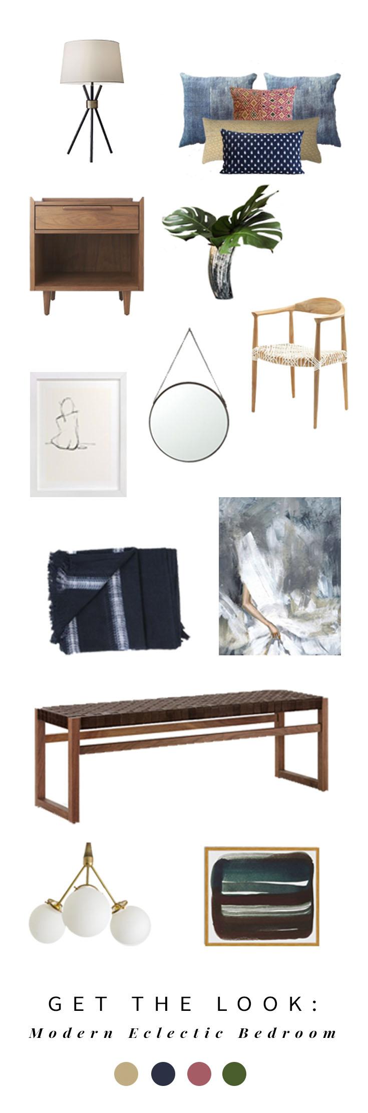 modern eclectic bedroom