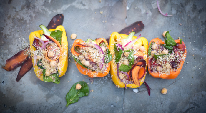 Quinoa Stuffed Bell Peppers 8