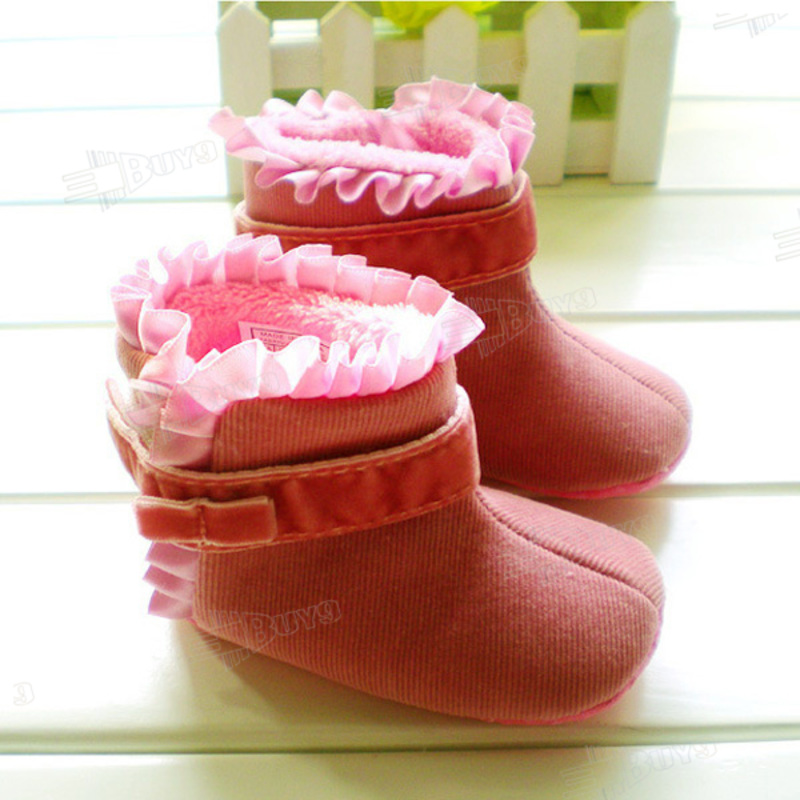 Toddler-Baby-Girl-Princess-Snow-Cotton-boots-Shoes-Size-US-1-2-3-For-3-12-months