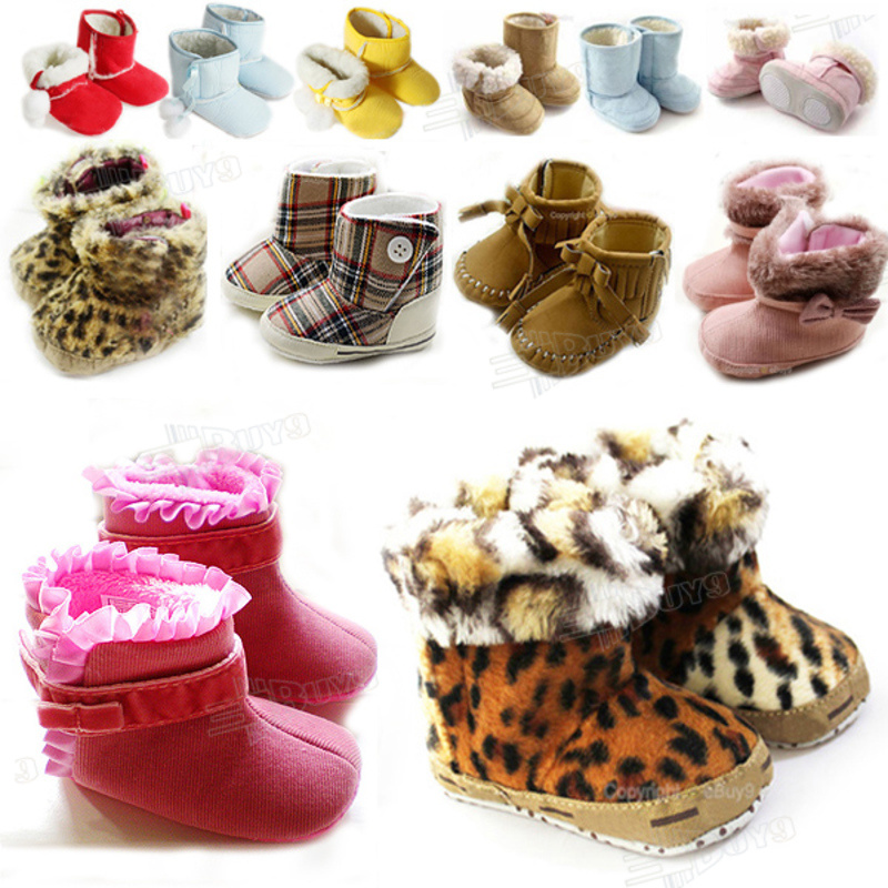 Toddler Baby Girl Princess Snow Cotton boots Shoes Size:US 1 2 3 ...