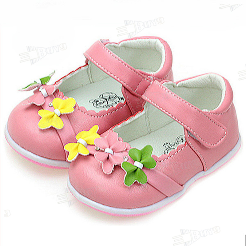Toddler baby girl Princess Flower Leather shoes Size US 1