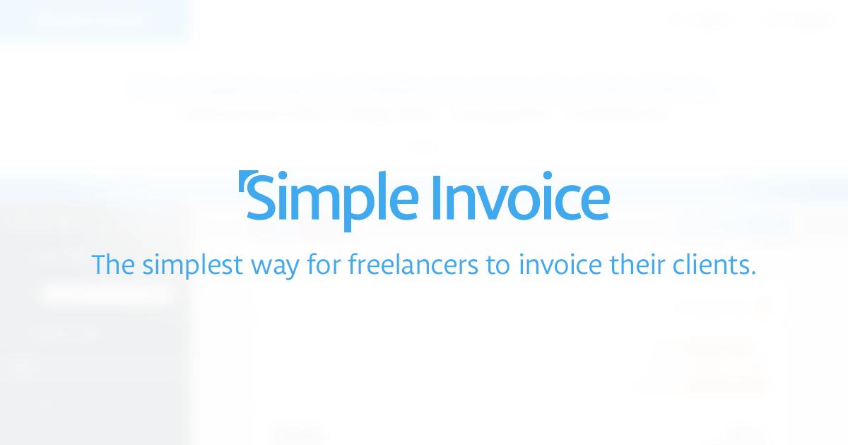 forgot password | simple invoice, Simple invoice