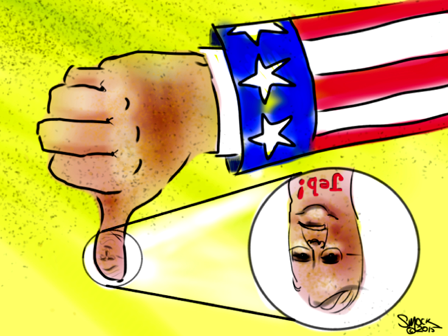 "AMERICA HAS SPOKEN: ""Jeb looks like a thumb"""