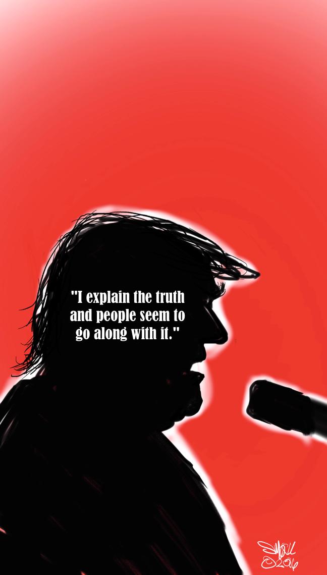 an editorial cartoon about Donald Trump by Jonathan Schmock ©2016