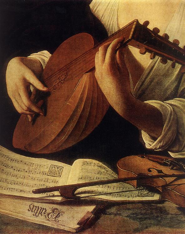 Luteplayer caravaggio detail