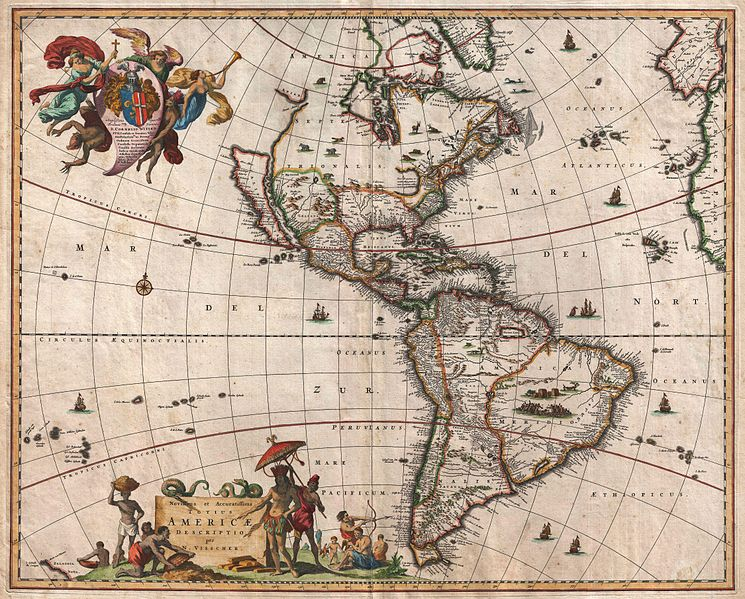 745px 1658 visscher map of north america and south america   geographicus   america visscher 1658