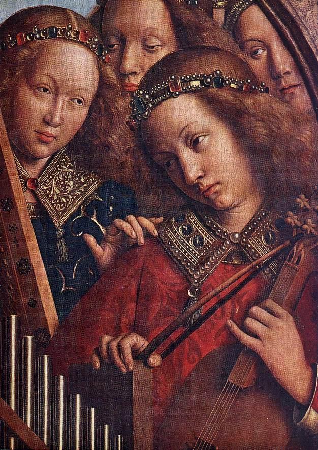Jan van eyck   the ghent altarpiece   angels playing music (detail)   wga07646