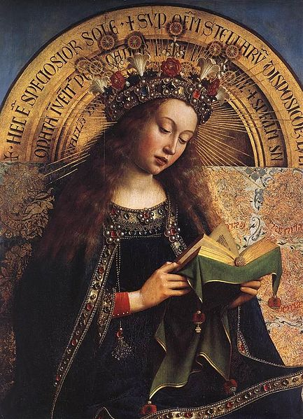 Ghent altar detail mary