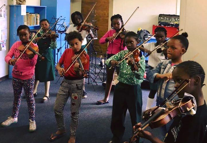 Cleveland harare ladies kids playing violin