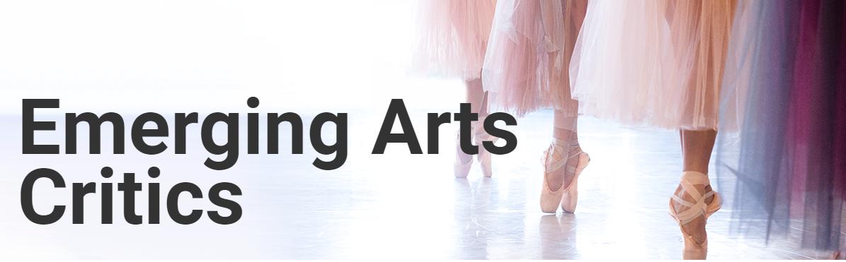 Emerging arts critics logo