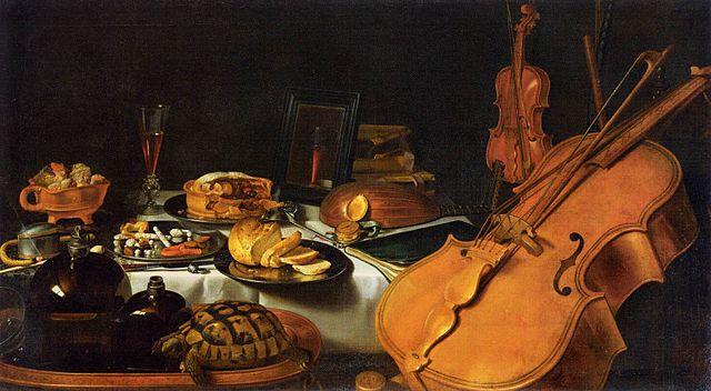 Claesz.  pieter   still life with musical instruments   1623