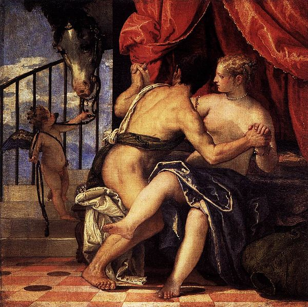 600px paolo veronese   venus and mars with cupid and a horse   wga24966
