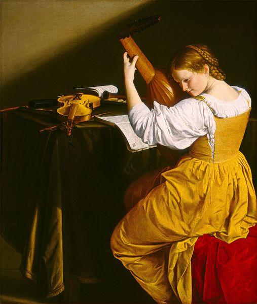 Orazio gentileschi   il suonatore di liuto (national gallery of art)