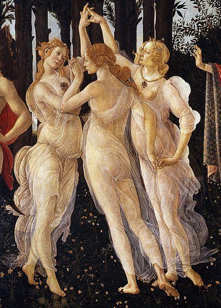 Sandro botticelli   three graces in primavera