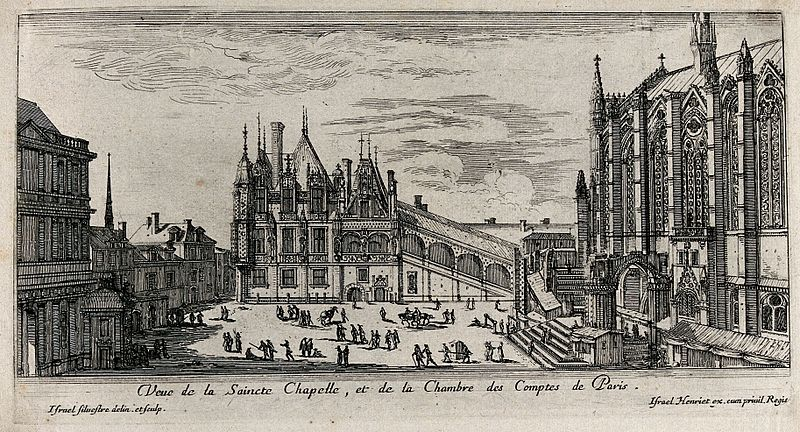 The sainte chapelle and the chambre des comptes in paris. et wellcome v0049992