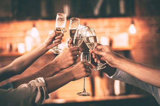 Champagne toast header