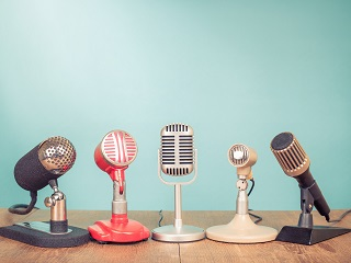 Microphones stock image thumb