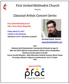 Classical artists concert series   mar 2017   farshad zadeh   kmfa