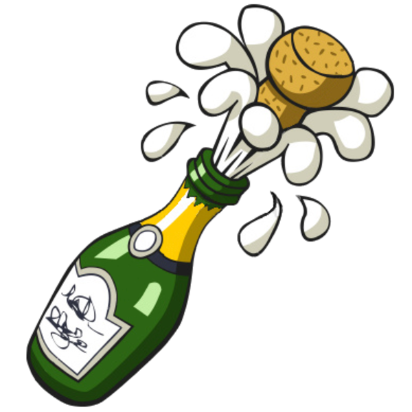 Free popping champagne bottle clip art 5w3oey clipart