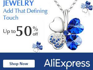 تخفيض حتى 50% على المجوهرات في علي اكسبريس