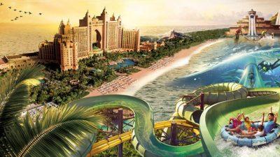 مدينة اكوافنتشر المائية اتلانتس النخلة دبي