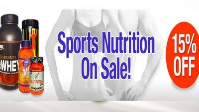خصم 15% على البروتين والمكملات الرياضية