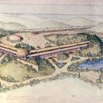 Marin Civic Center Concept Drawing, c.1958