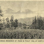 "Lithograph of Owl's Wood from the 1887 ""Marin Journal"""