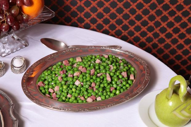 Sautéed Peas and Ham